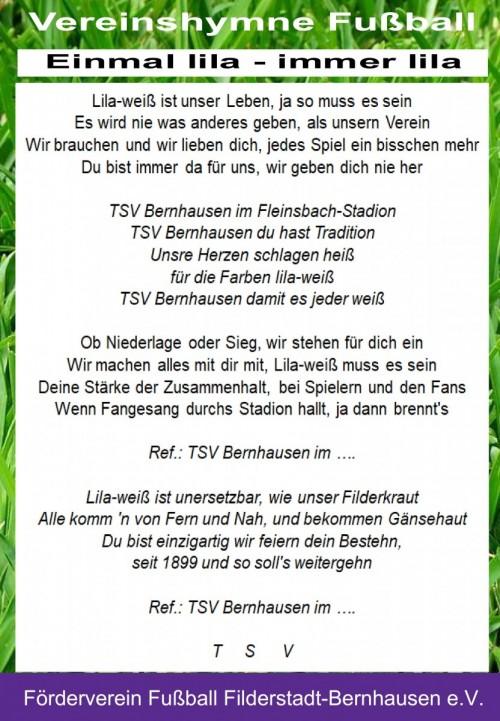 "Vereinslied Fußball ""Einmal lila, immer lila"" ist fertig!"