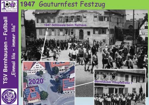 101 Jahre lila Fußballgeschichte – 1947 Gauturnfest Festzug (Bild 6 von 32)