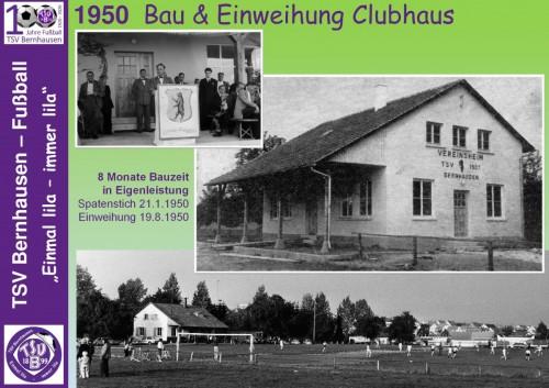 101 Jahre lila Fußballgeschichte – 1950 Bau & Einweihung Clubhaus (Bild 7 - 32)