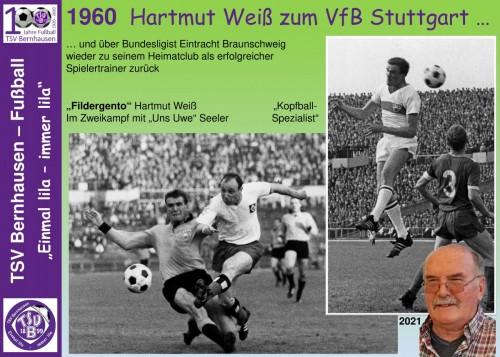 101 Jahre lila Fußballgeschichte - 1960 Hartmut Weiß zum VfB Stgt. (Bild 10-32)