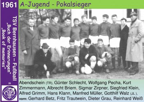 101 Jahre lila Fußballgeschichte - 1961 A-Jugend - Pokalsieger
