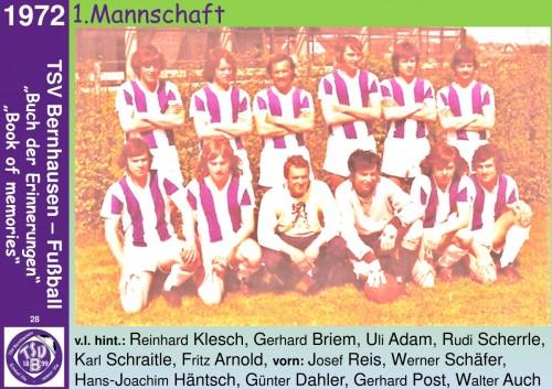 101 Jahre lila Fußballgeschichte  - 1972 1.Mannschaft