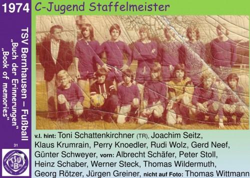 101 Jahre lila Fußballgeschichte  - 1974  C-Jugend Staffelmeister