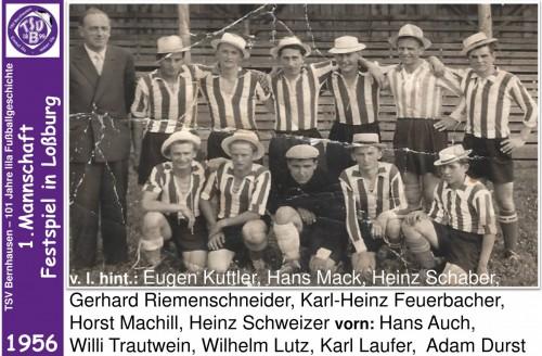 101 Jahre lila Fußballgeschichte - 1956 - 1.Mannschaft Festspiel in Loßburg