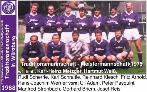 101 Jahre lila Fußballgeschichte - 1988 -Traditionsmannschaft in Würzburg