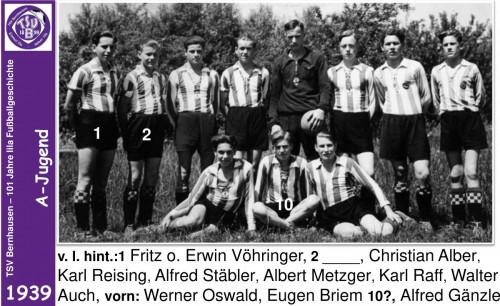 101 Jahre lila Fußballgeschichte - 1939 -A-Jugend